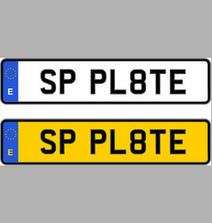 spain number plate vector image