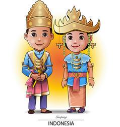sumatra people vector image vector image