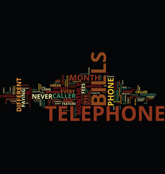 Telephone bills text background word cloud concept vector