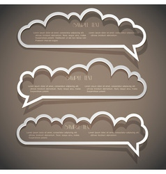 Three speech bubbles from paper vector