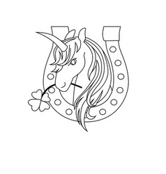unicorn icon character 08 vector image vector image