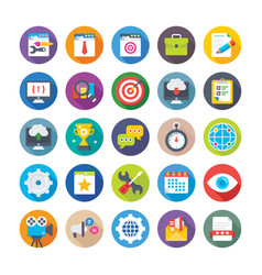 Web design and development icons 10 vector