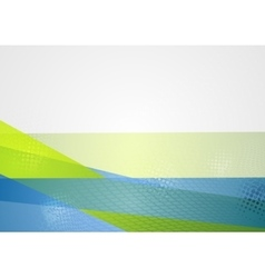 Abstract blue green tech background vector image