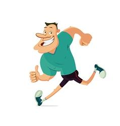 Smiling running man vector