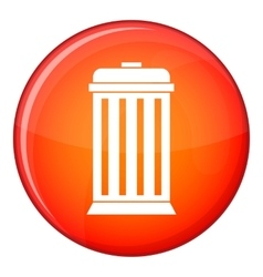 Trash can icon flat style vector