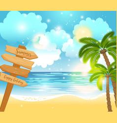Summer happy holiday landscape vector