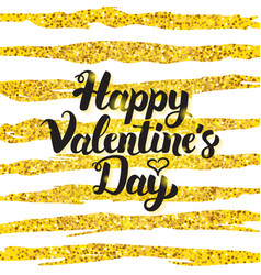 happy valentine day handwritten card vector image