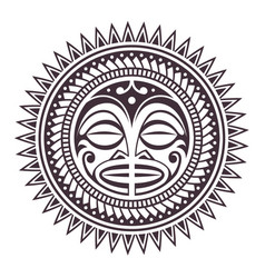 Polynesian mask vector