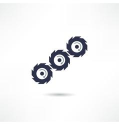 gears icon vector image
