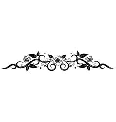 Flowers border vector image