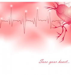 save your heart vector image