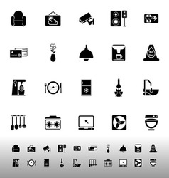 Cafe and restaurant icons on white background vector