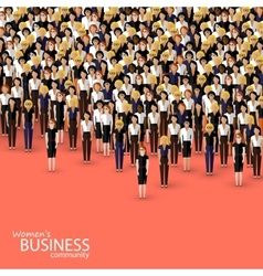 Flat of women business community a crowd of women vector
