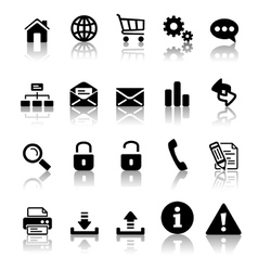 black icon set vector image
