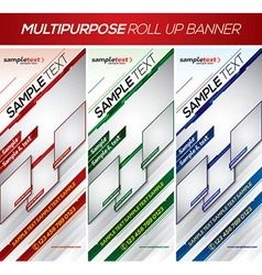 Multipurpose roll up banner vector
