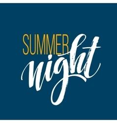 Long Hot Summer Night Typography Design vector image