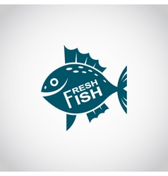 Icon with fish vector