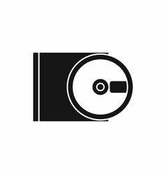 Dvd drive open icon simple style vector