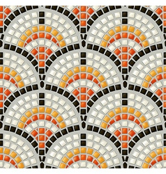 Antique mosaic seamless pattern vector
