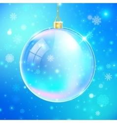 New year glass ball vector