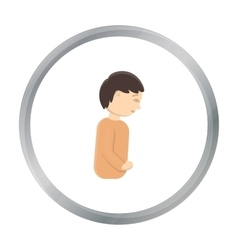 Abdominal pain icon cartoon single sick icon from vector