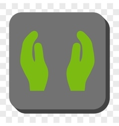 Applause Hands Rounded Square Button vector image vector image