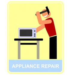 appliance repair vector image