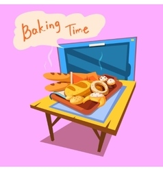 Bakery cartoon vector image