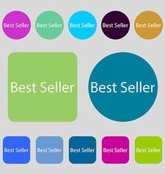 Best seller sign icon best-seller award symbol 12 vector