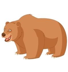 Cartoon smiling bear vector