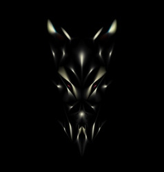 Devil face background vector