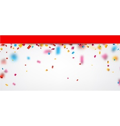 Festive background with confetti vector image vector image
