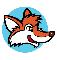 funny cartoon fox vector image
