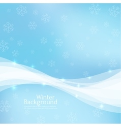 Gentle winter abstract background vector image vector image