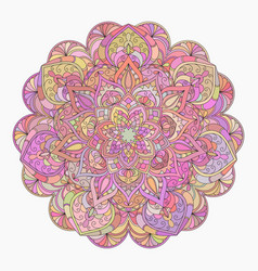 Hand drawn decorative mandala vector