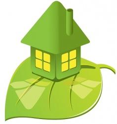 House on leaf vector