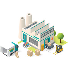 Isometric factory vector