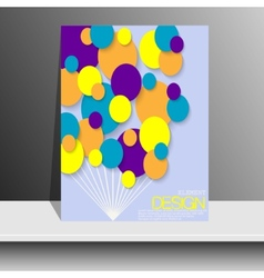 Magazine Cover with pieces of colored Paper For vector image
