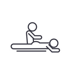 massage spa therapy linear icon sign symbol vector image