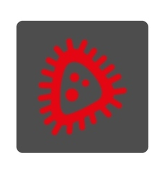 Micro parasite rounded square button vector