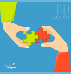 puzzle solution concept vector image