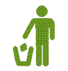 Recycling Icon Made of Four Leaf Clover vector image vector image