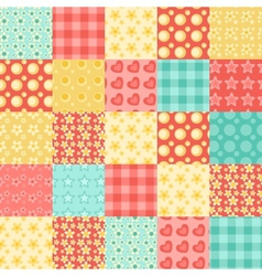 seamless patchwork pattern vector image vector image