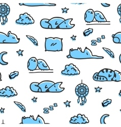 Seamless pattern with bedtime vector image