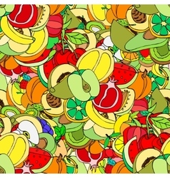 Sketch Fruits vector image vector image