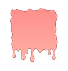 Splash of pink bubble gum vector