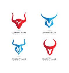 Taurus logo template vector