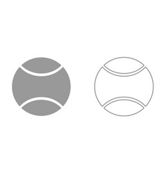 Tennis ball it is icon vector