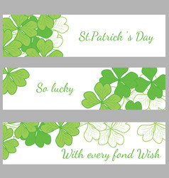 The hand written inscription happy st patricks day vector