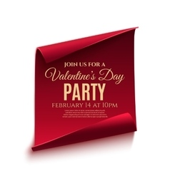 Valentines day party poster template vector